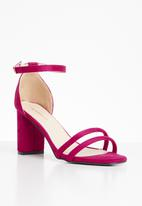 Superbalist - Ivy ankle strap heel - pink