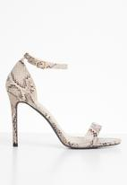 Superbalist - Zoe ankle strap heel - snake