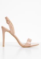 Superbalist - Sierra patent slingback heel - neutral
