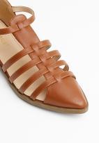Superbalist - Daisy caged sandal - tan