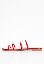 Superbalist - Lola perspex sandal - red