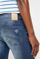 Only & Sons - Spun blue damage slim fit jeans - blue