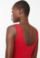 Superbalist - Graphic printed bodysuit - red