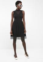 ONLY - Niella mesh dress - black