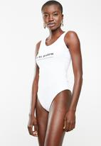 Superbalist - Graphic printed bodysuit - white