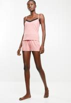 Superbalist - Sleep cami and short set - pink