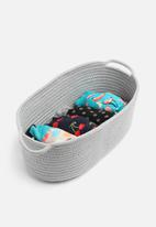 Sixth Floor - Cotton rope storage basket - grey