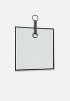 Sixth Floor - Square hanging mirror - black