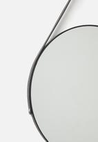 Sixth Floor - Round hanging mirror - black