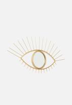 Sixth Floor - Eye metal mirror - gold