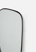 Sixth Floor - Metal framed mirror set of 3 - black