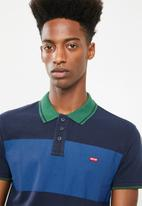 Levi's® - Levis house mark polo colour block rugby - blue & green