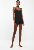 Superbalist - Sleep cami and short set - black