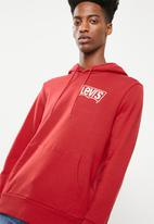 Levi's® - Graphic long sleeve hoodie - red