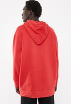 adidas Originals - Oversized hoodie - red