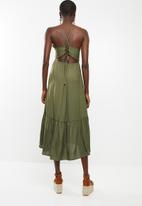 Vero Moda - Faline slip dress - green