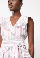 Vero Moda - Ruffle shirt dress - white