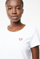ONLY - Icos heart tee - white