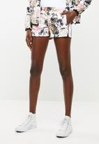 Converse - Linear floral track shorts - pink white & black