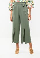 STYLE REPUBLIC - Wide leg paperbag pants - khaki green