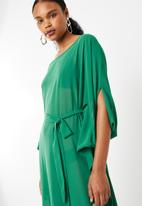 STYLE REPUBLIC - Dramatic kaftan maxi dress emerald - green