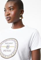 Superbalist - Miami tee - white