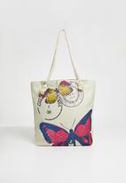 STYLE REPUBLIC - Butterfly shopper bag - beige