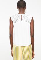 ONLY - Karmen lace top - white