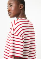 Superbalist - Boxy tee - red & white
