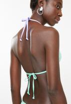 Lizzy - Asa bikini set - green, white & purple