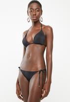Sun Love - Side tie bikini bottoms - black
