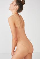 Cotton On - Esther rib cheeky - beige