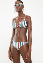 Sun Love - Candy stripe bikini bottoms - blue, pink & yellow
