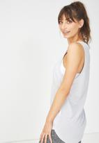 66ee315871eb53 Slouchy scoop neck tank - grey marle Cotton On T-Shirts ...