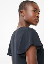 Superbalist - Flutter sleeve blouse - black