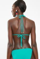 Sun Love - Padded slide bikini top - turquoise