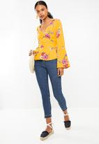 Superbalist - Bell sleeve wrap blouse - yellow floral