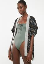 South Beach  - One piece with silver details - khaki