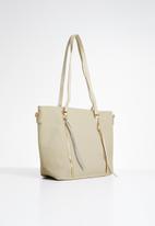 STYLE REPUBLIC - Zip detail tote bag - cream