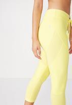 Cotton On - Textured crop tight - yellow