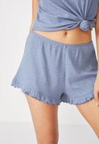 Cotton On - Rib frill short -  blue