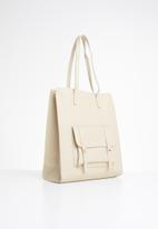 STYLE REPUBLIC - Leather-look shopper bag - cream