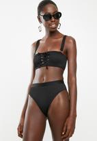 South Beach  - High legged brief - black