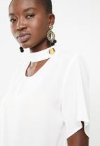 STYLE REPUBLIC - Choker neckline blouse - off white