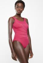 Jacqueline - Dart one piece - pink