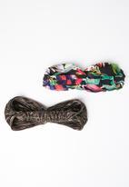 STYLE REPUBLIC - Tropical and plisse headband twinpack - multi