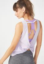 Cotton On - Backless twist tank top - purple