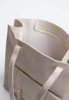 STYLE REPUBLIC - Leather-look shopper bag - grey