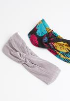 STYLE REPUBLIC - Tropical and plisse headband twinpack - multi-colour
