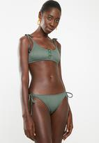 South Beach  - Bikini bottom with tie side - khaki